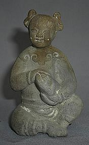 18th Century Pottery Figure