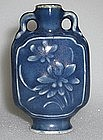 A Blue Glaze Snuff Bottle with Flower decoration,Qing