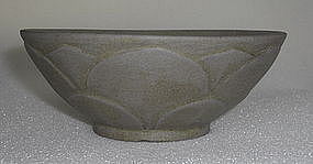Five dynasty Yue yao bowl with lotus shape