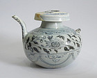 Yuan Dynasty Blue and White Double Spout Ewer