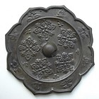 Tang Dynasty Lotus Shape Bronze Mirror