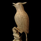Carved Ivory Bird Walking Stick