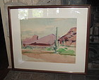 Listed Texas, NM Artist Sahula Dycke Arizona Painting
