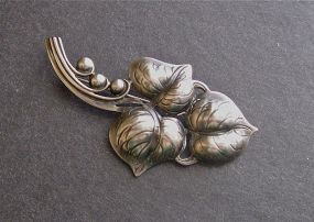 Vintage Sterling Silver Arts and Crafts Handmade Brooch