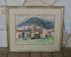 Henry George Keller Ohio & California Artist Watercolor