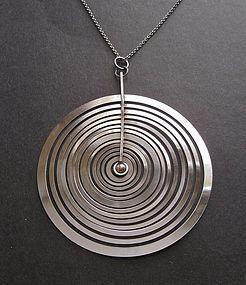 Tapio Wirkkala Hopeakuu Silver Moon Large Pendant