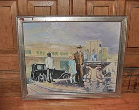 Emerson Burkhart Ohio WPA Artist Painting