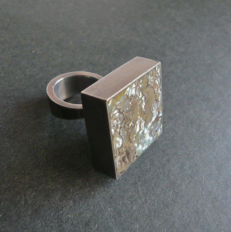 Modernist Arne Johansen Denmark Large Ring