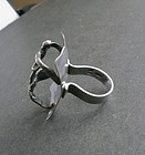Hand Wrought Vintage Sterling Iceland Modernist Ring JPC 925S