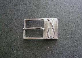 Vintage Modernist Paul LOBEL Sterling Silver Buckle