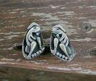 Vintage Salvador Teran Modernist Sterling Earrings Taxco Mexico Rare