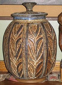 DAN SORENSEN, LARGE LIDDED JAR, 1974