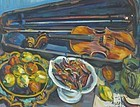 JACQUES KOSLOWKSY, STILL LIFE WITH VIOLIN