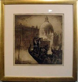 FRANK BRANGWYN, THE TRAGHETTO, VENICE, 1911