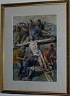 19th CENTURY ITALIAN WC, CHRIST NAILED TO THE CROSS