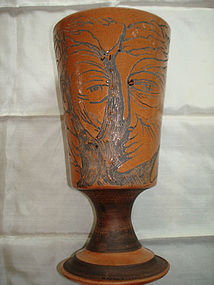 JEAN MARAIS VASE WITH INCISED PORTRAIT