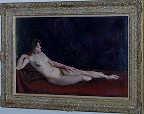 JEAN HIPPOLYTE MARCHAND RECLINING NUDE 1920S