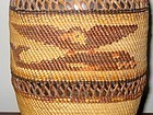 MAKAH POLYCHROME PICTORIAL BOTTLE BASKET NORTHWEST COAST