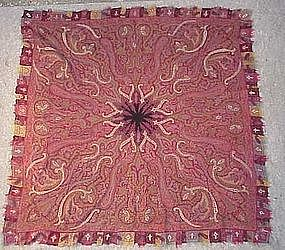 ANTIQUE KASHMIRI PAISLEY SHAWL, 19TH C.