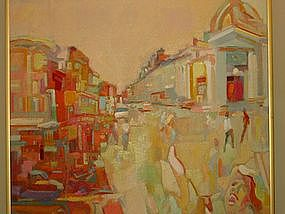 "Anthony Toney, ""Main Street"", Original oil painting"