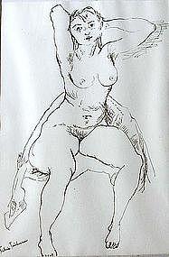 """Sabina Teichman, """"Seated Nude""""."""