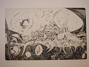 """Wendell H. Black, """"Spawn"""", Intaglio, 1955"""