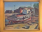 "Donald Litchfield, ""Dry Dock"", circa 1940"