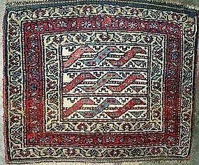 Antique Kurdish Bagface, 19th Century