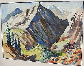 "Montague Charman, ""Rocky Mountain Landscape"""