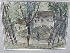 BENJAMIN KOPMAN, WOMAN WALKING ON A VILLAGE ROAD