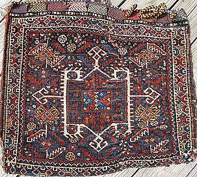 ANTIQUE AFSHAR BAG WITH BACK 19TH CENTURY