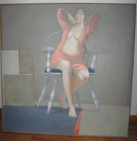 "JAMES HENNESSEY, ""ROBE"", LARGE ORIGINAL OIL PAINTING"