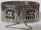 Bernice Goodspeed  Niello intaglio sterling bracelet