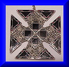 Sandor Silver Marcasite fired enamel Maltese Cross pin/