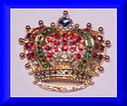KJL Swarovski crystal crown brooch (Limited edition)