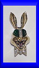 Karu Fifth Avenue whimsical smiling rabbit brooch