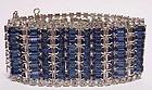 """Hattie Carnegie Royal Blue Rhinestone bracelet 1 1/4""""w"""