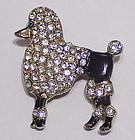 Ernest Steiner pave & black enamel poodle dog brooch