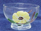 Blue Ridge 'Ridge Daisy' glass sherbet Southern Pottery