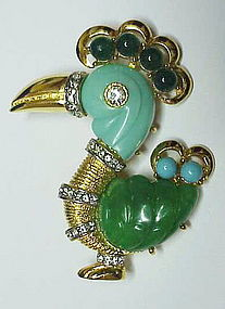 Hattie Carnegie Do Do Bird brooch