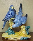 "Stangl Double Parakeets-Blue-No Box #3582D- 7""-1941"