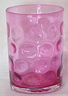 Fenton cranberry inverted coin dot tumbler