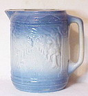 "Blue and white stone ware ""Avenue of trees""  pitcher"