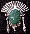 Horacio de la Parra sterling Face Pin