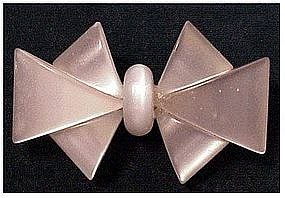 Lucite moonstone color bow pin