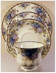 "Royal Albert ""Moonlight Rose"" cup,saucer,B&B,  +Salad"