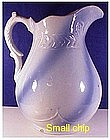 "Blue & White stoneware washstand 11"" swirl  pitcher"