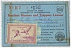 Ohio 1938 resident hunting  & trapping license