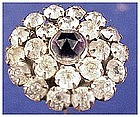 "Edwardian faceted  white paste 9 1/2"" hatpin / hat pin"