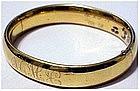 "Gold filled hinged bangle bracelet (Initials) 1/2"" wide"